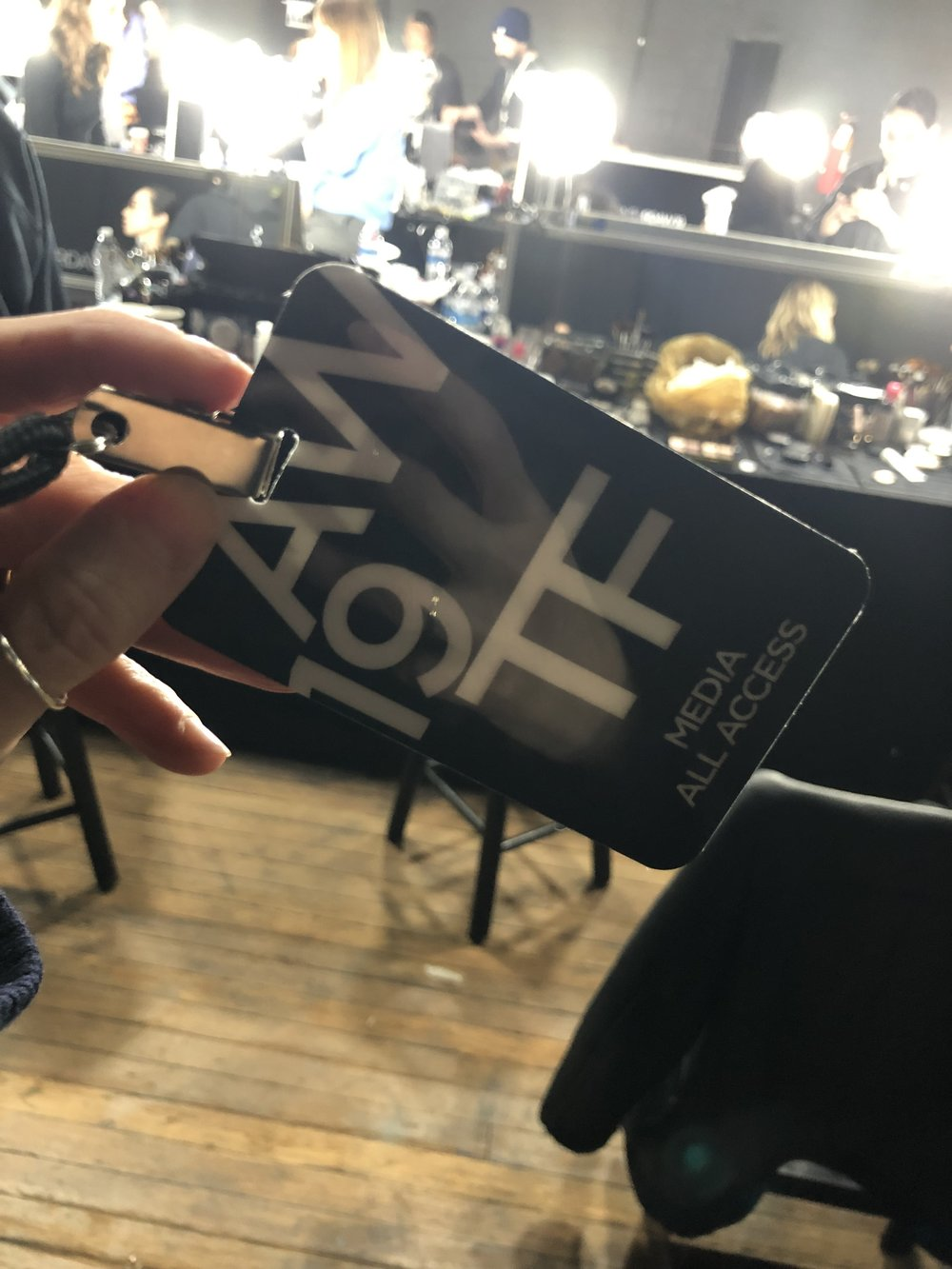All access media pass at the ready and we are heading backstage!