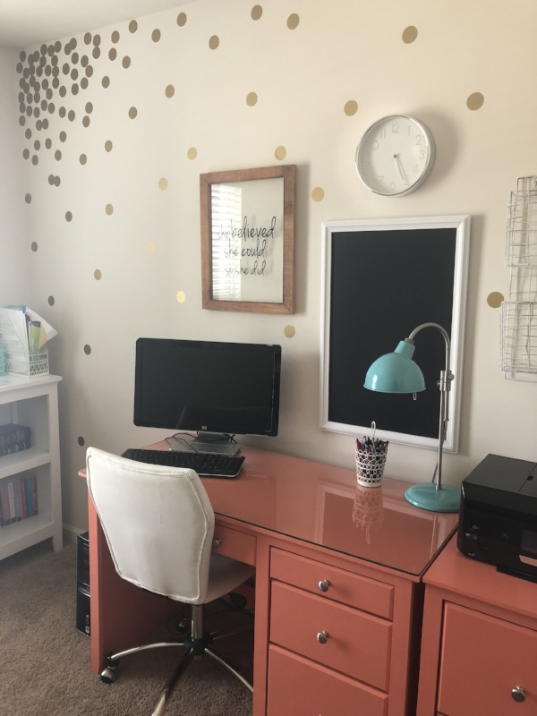 polka dot office wall