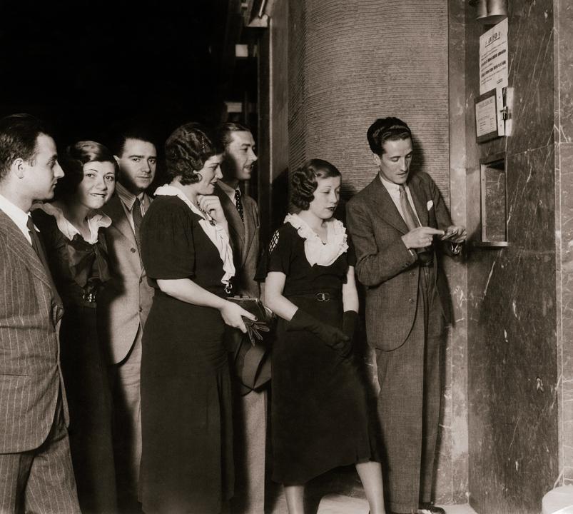 VIDEA. Taquilla de un cine de verano. Madrid, 1934
