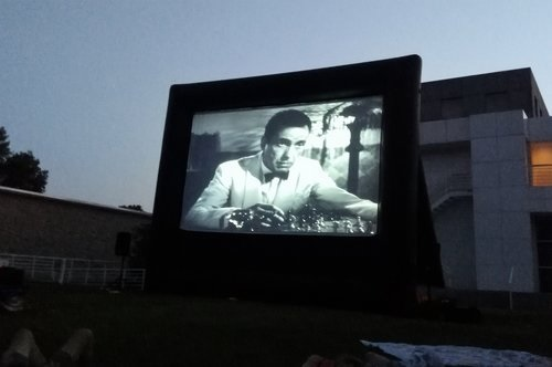 Casablanca on the screen at the Des Moines Art Center.jpg