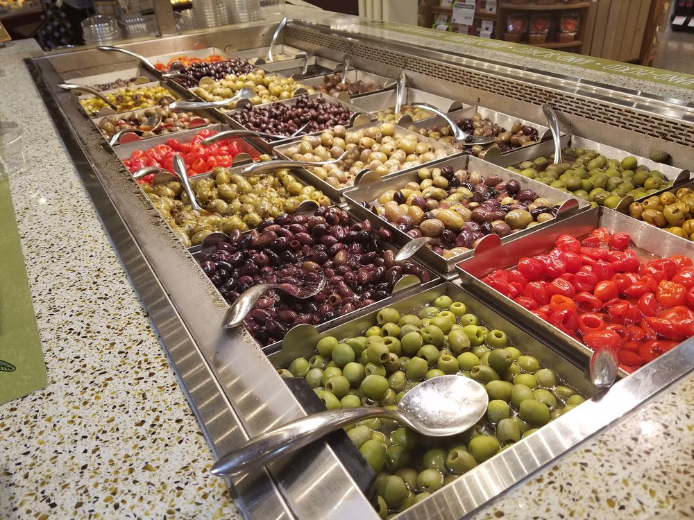 The Whole Foods Olive Bar in Des Moines, Iowa