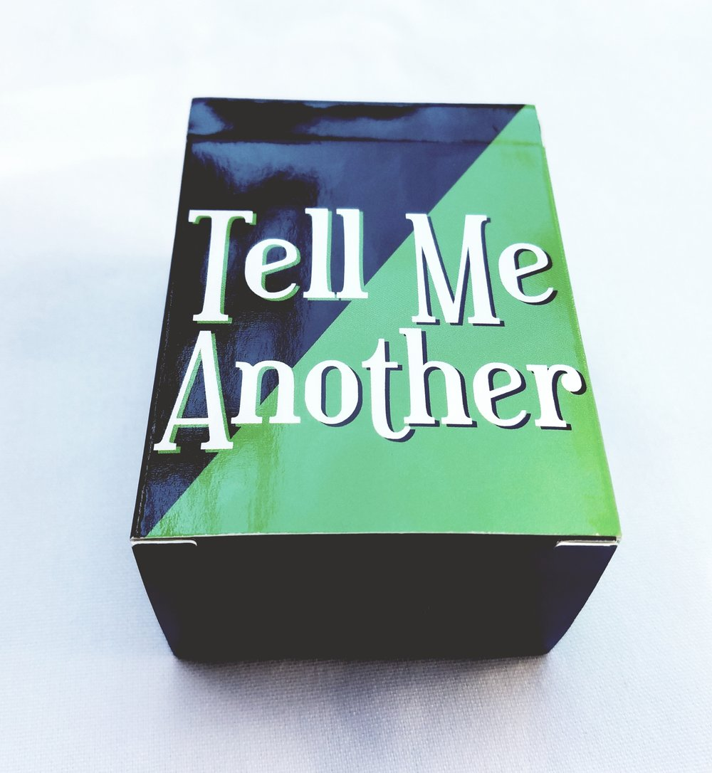 The Tell Me Another Box filled with storytelling prompts sure to ignite interesting conversation.