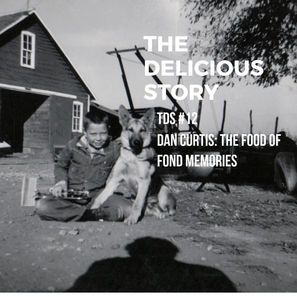Dan Curtis and his farm dog, c. 1948.