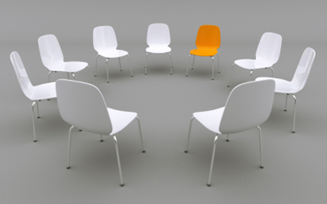 Group white chairs