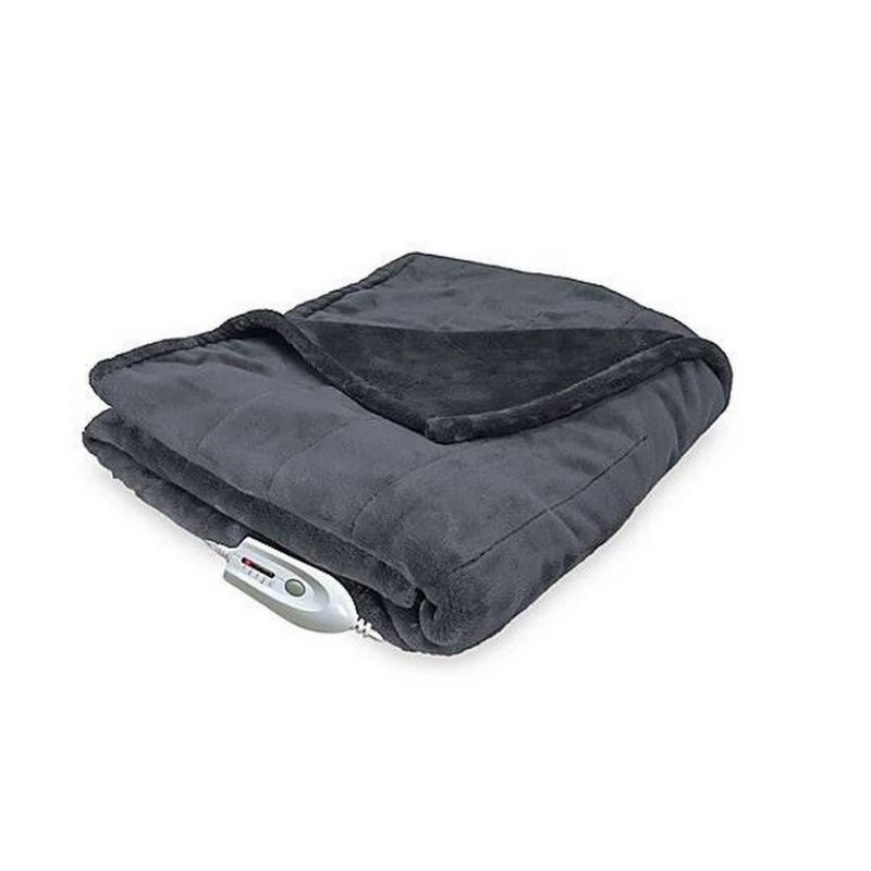 Therapedic Electric Heated Silky Plush Throw Blanket