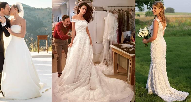 Oscar de la Renta weddings - Kate Bosworth, Amal Clooney, Jenna Bush | emma-elsewhere