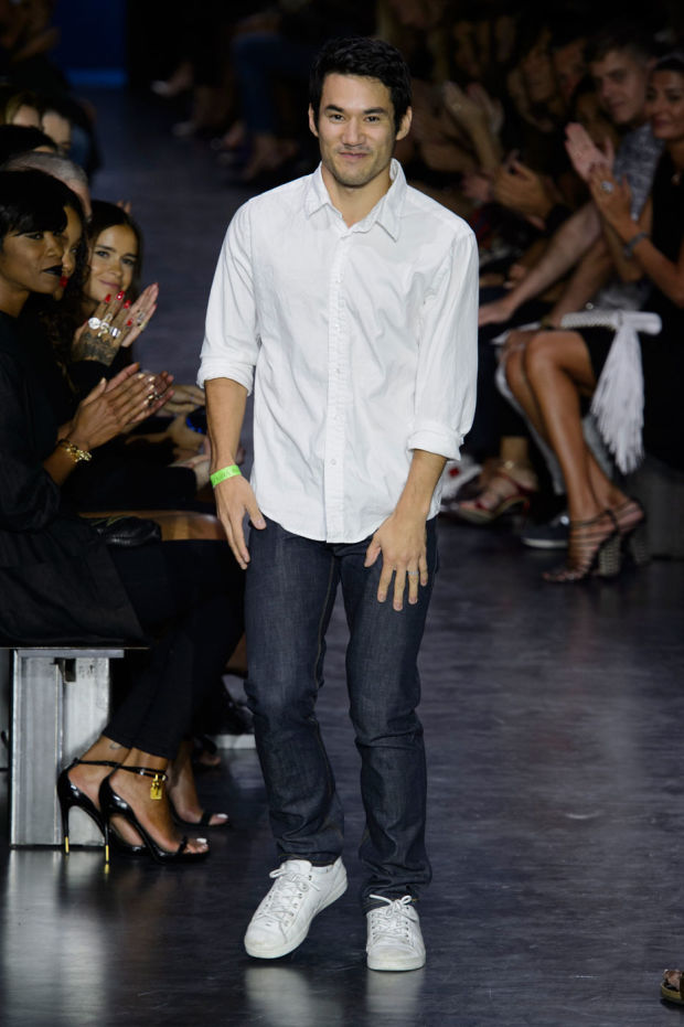Joseph Altuzarra taking a bow