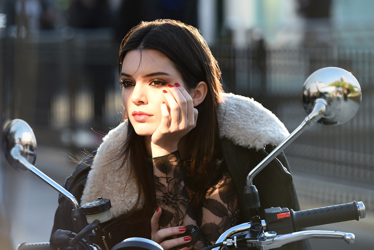 Kendall Jenner for Estee Lauder cosmetics.