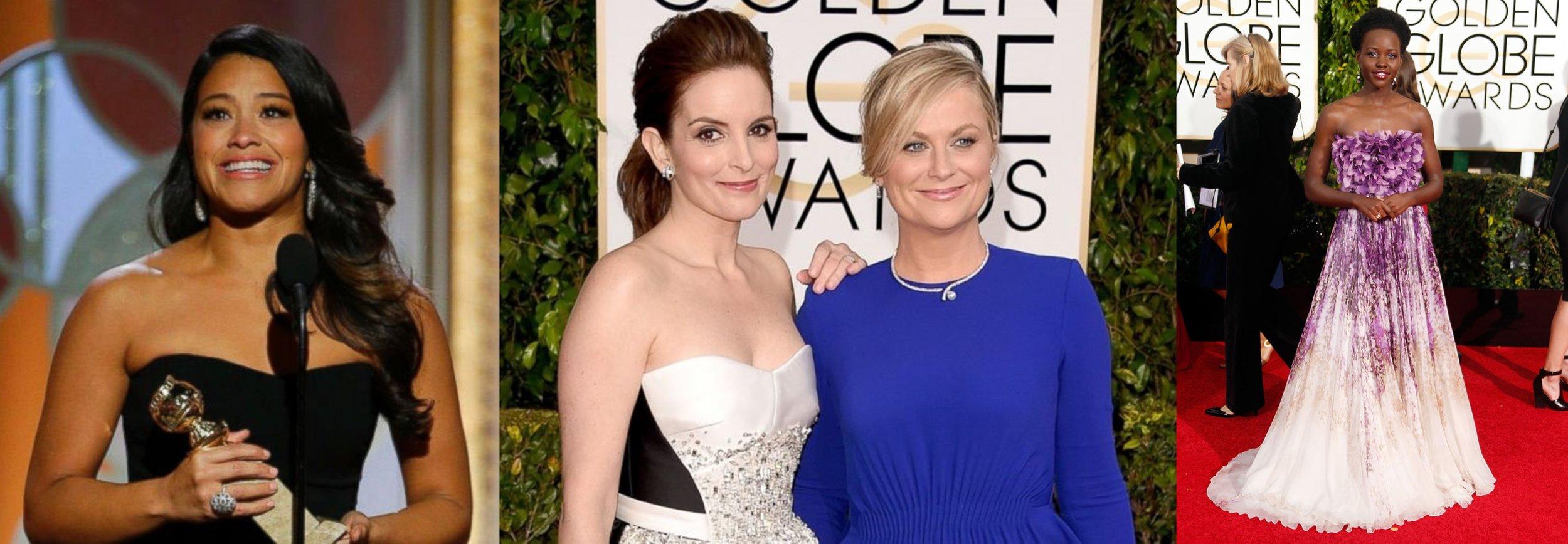 Golden Globes standouts - Gina Rodriguez, Tina Fey, Amy Poehler, Lupita Nyongo