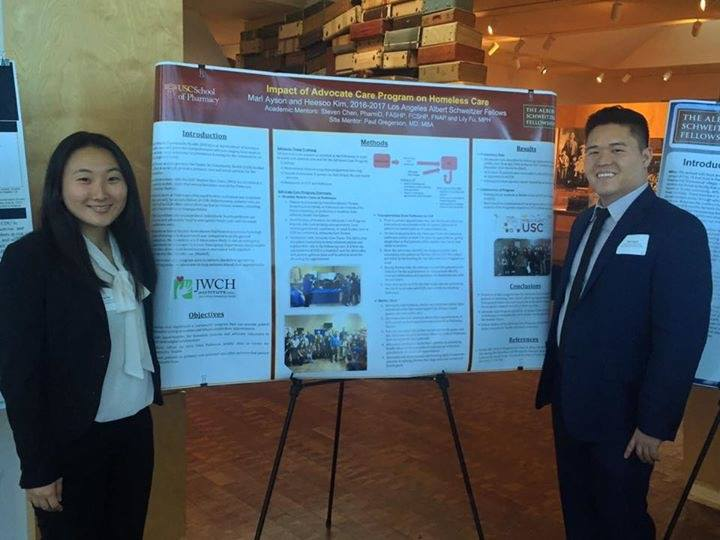 Heesoo Kim and marl ayson, who helped implement and develop the advocate care program in the spring of 2017.