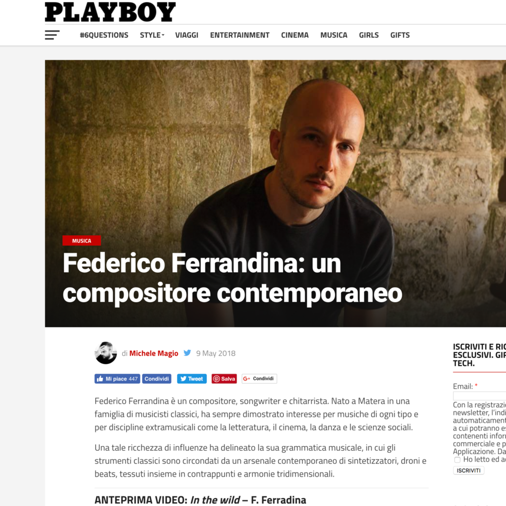 Federico Ferrandina on PlayBoy: