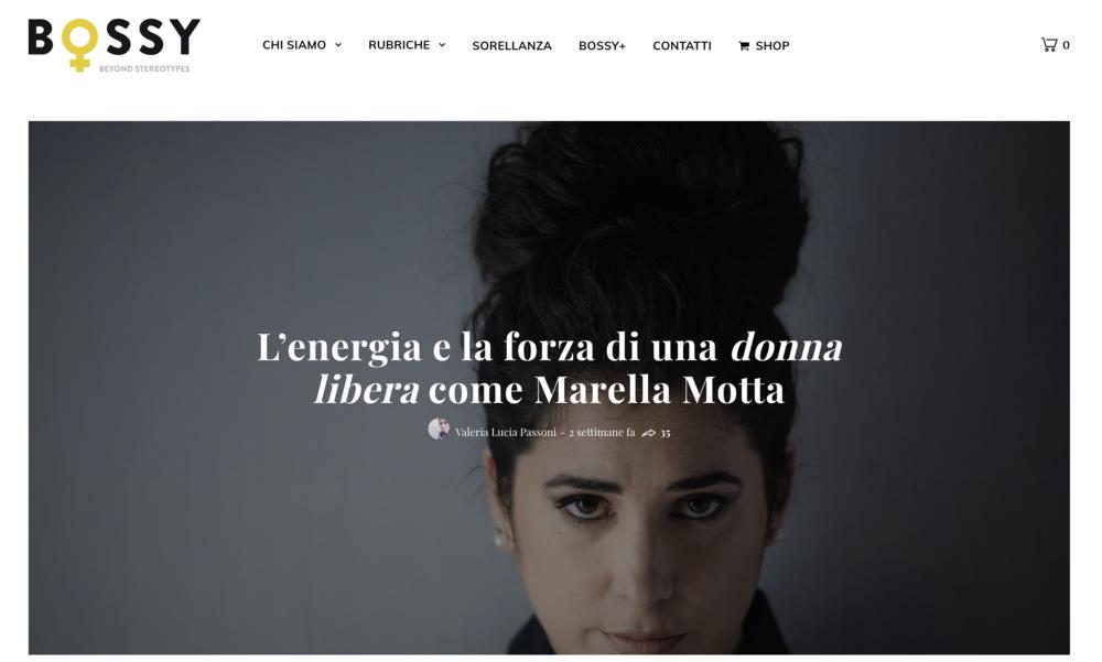"""In anteprima su Bossy il videoclip """"Angry"""" di Marella Motta.   04.03.19"""