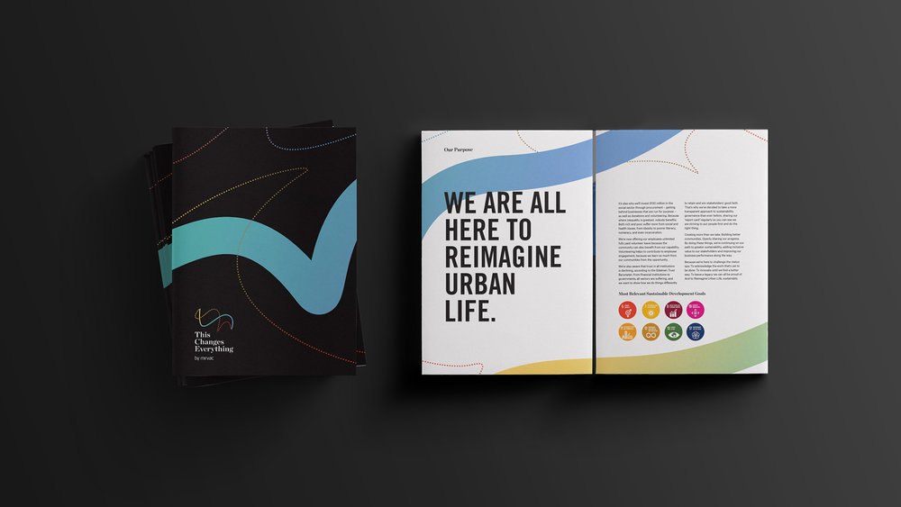 Mirvac This Changes Everything 4 page gatefold brochure design
