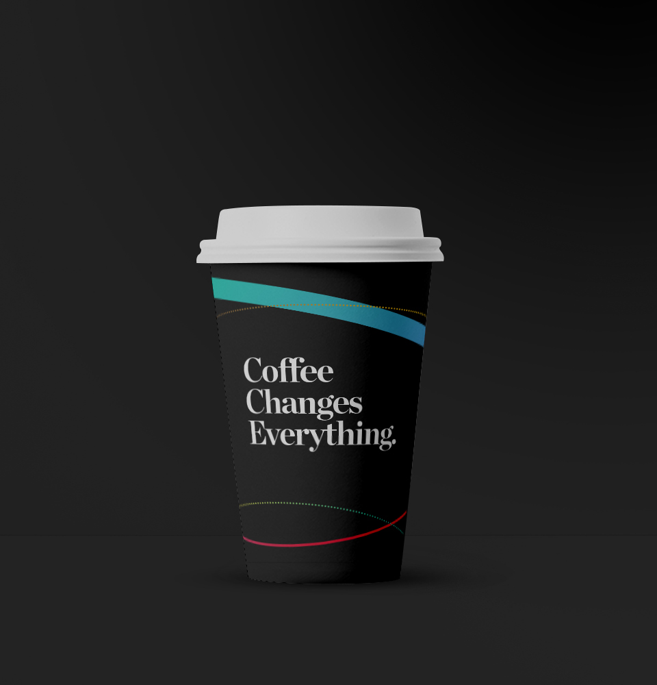 Mirvac This Changes Everything coffee changes everything black coffee cup design