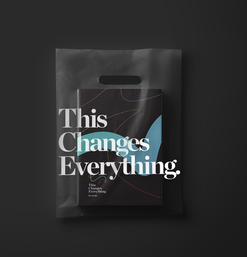 Mirvac This Changes Everything brochure in branded plastic bag