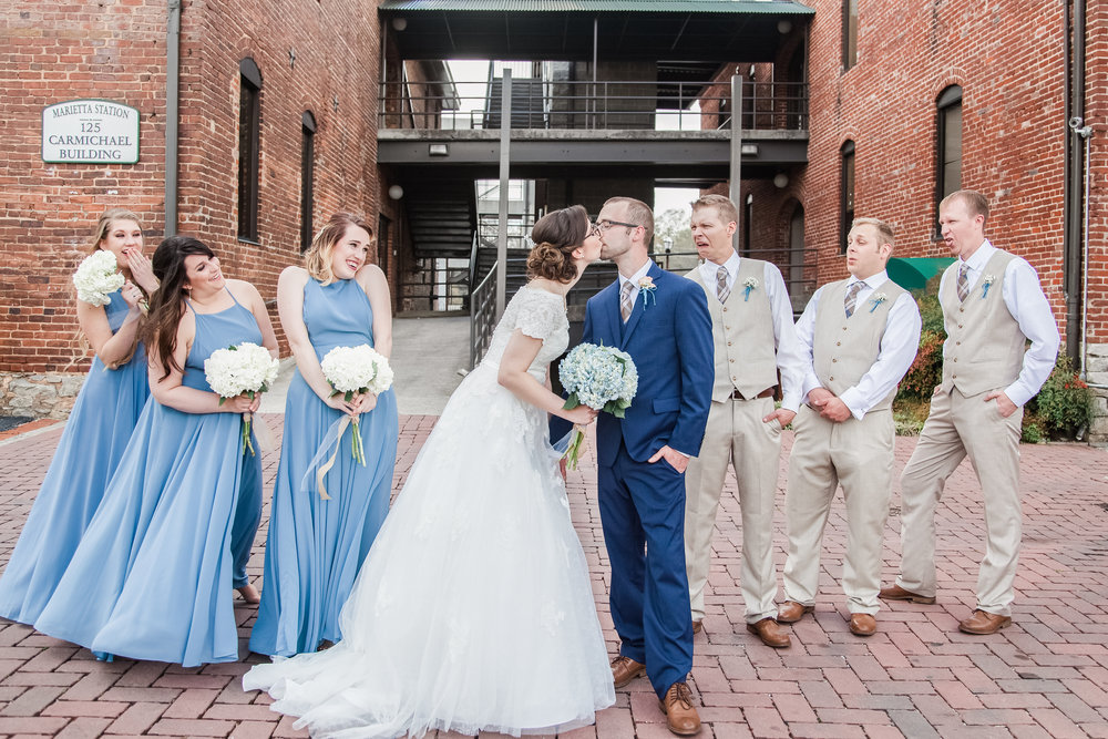 the brickyard marietta Georgia wedding bridal party funny
