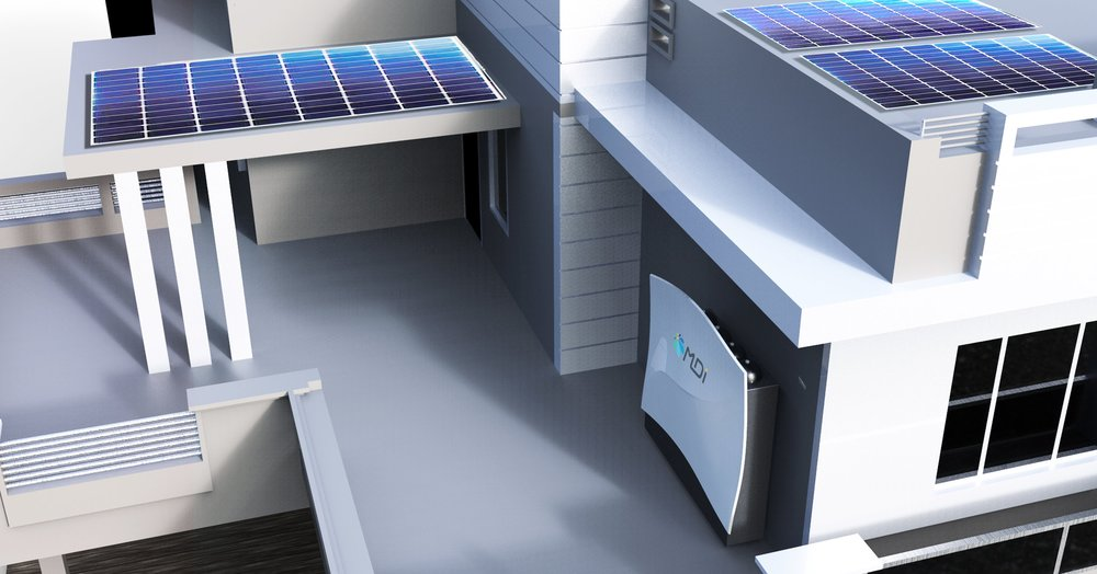 The AirWall is a clean electricity generation and storage system that works as a fixed power solution, ideal for homes and businesses.