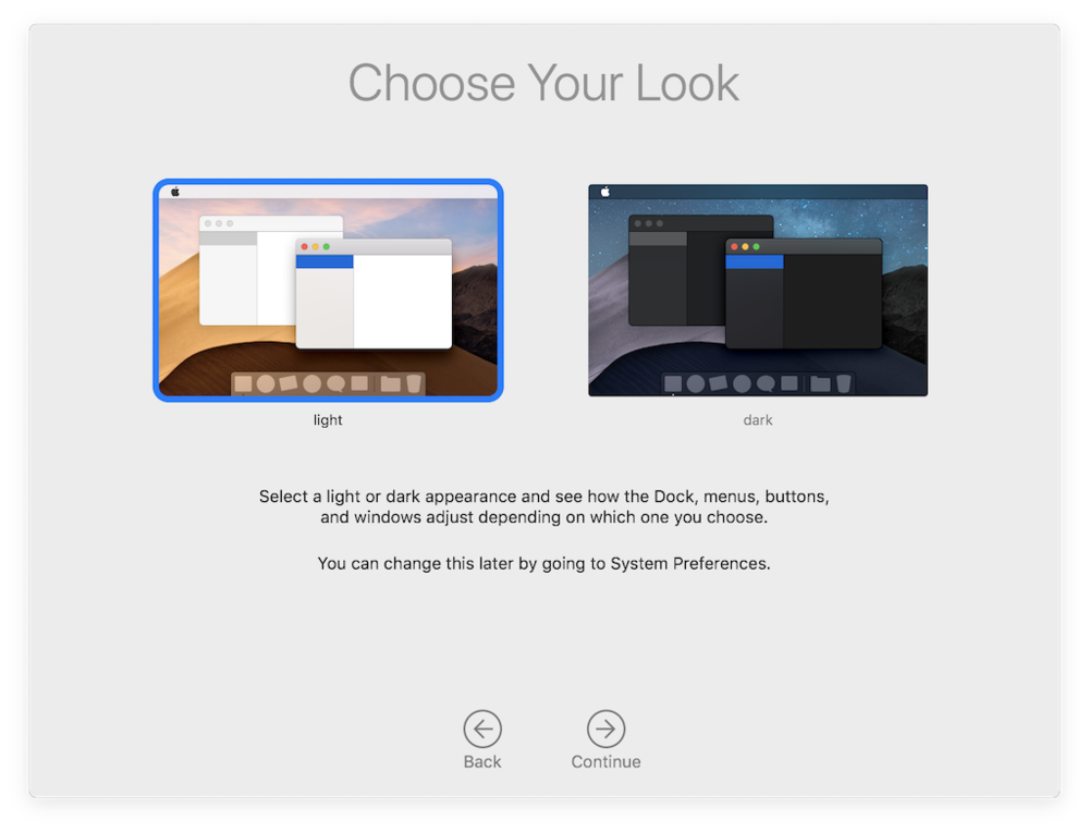 Mojave's new Dark Mode for Macs has no direct equivalent on iOS, but it serves the same attention-focusing purpose as the mobile-optimized user interface of iOS.