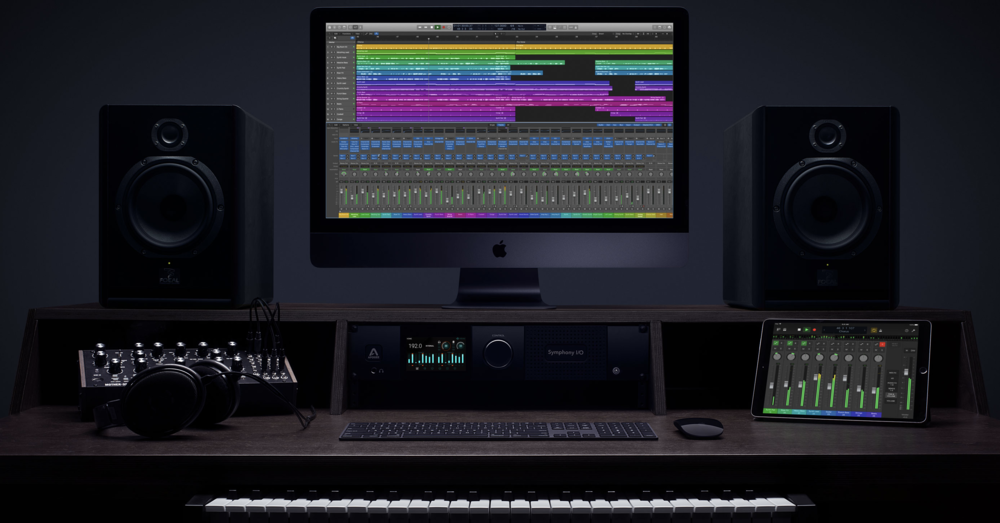 Apple's Logic Pro X has a content-focused UI for professionals—carried over to Logic Remote on iPad.