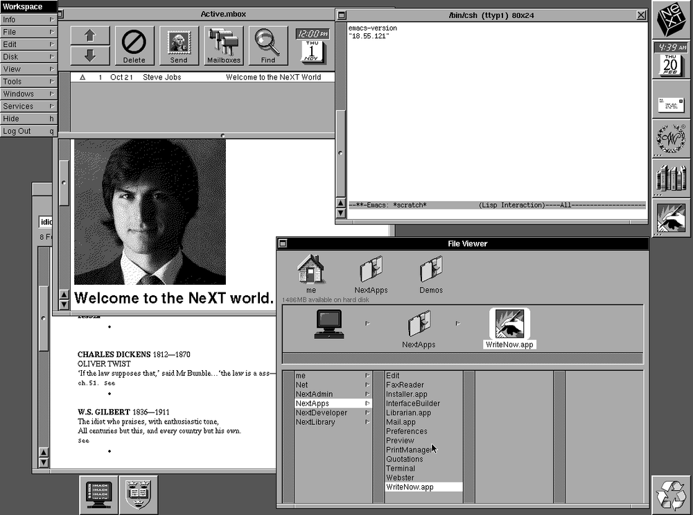 NeXTSTEP launched with a dark UI 30 years ago.