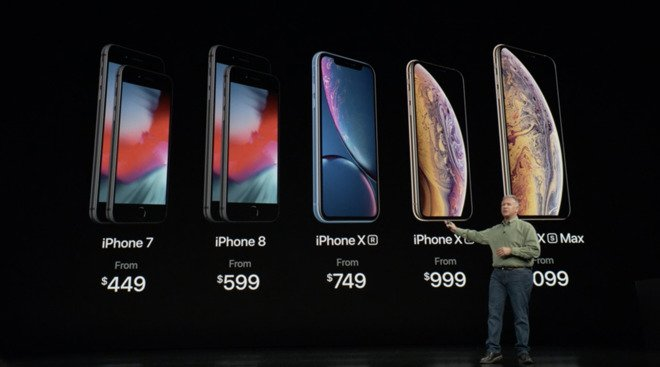 Apple's marketing chief Phil Schiller cleverly used his body to briefly obscure the prices of new phones during the keynote, leaving customers rushing to the  Wall Street Journal  to understand what was going on