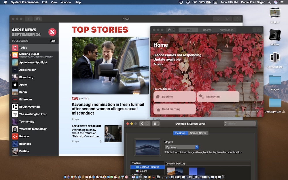 macOS Mojave is fresh yet familiar, particularly for iOS users