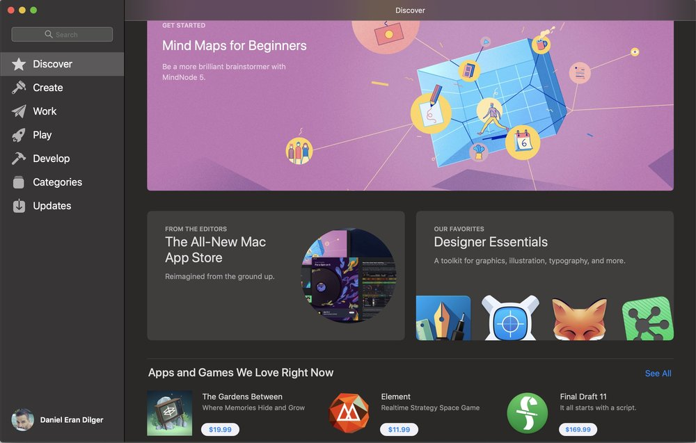 The new Mac App Store offers more curation and recommendations.