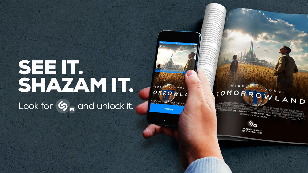 Shazam launched visual recognition in 2015, aimed at marketing engagement.