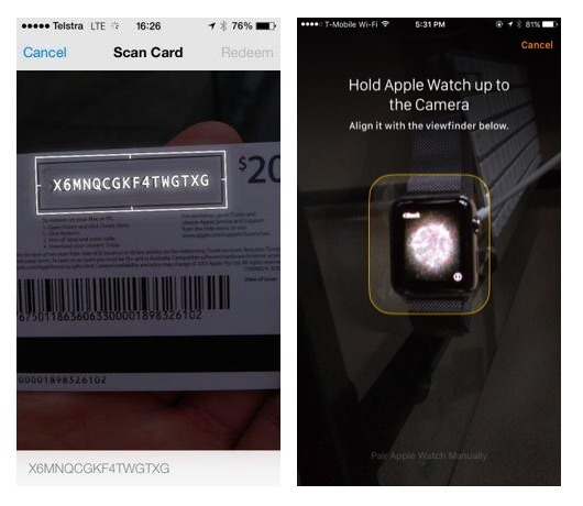 Apple has supported visual recognition in iTunes Card redemption and Apple Watch for years.