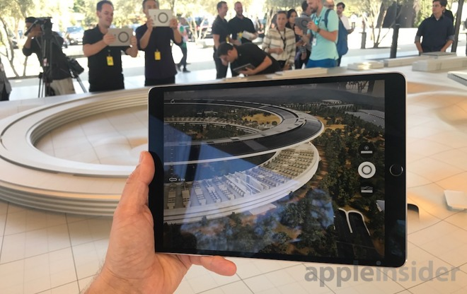 Apple Park's visitor center opened last year with  interactively delivered  via Apple's freshly-minted ARKit