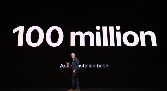 Apple CEO Tim Cook announced 100M active Macs in October, 2018