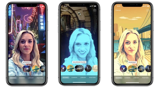 Apple Clips already support video depth effects for background replacement and foreground effects