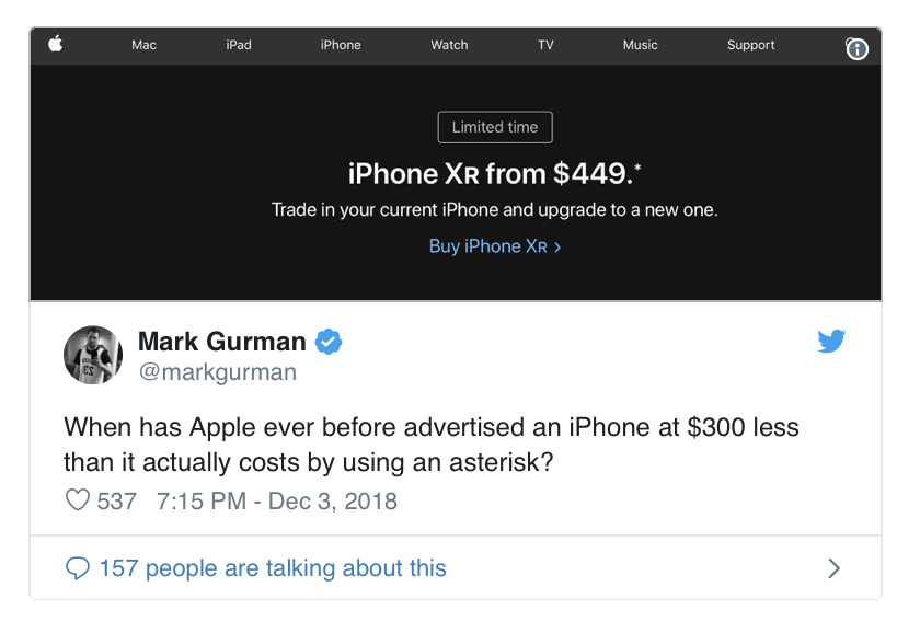Apple was accepting trade-ins while Google was actually slashing prices