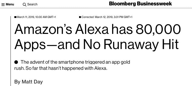 Amazon Alexa Skills didn't exactly slay the App Store