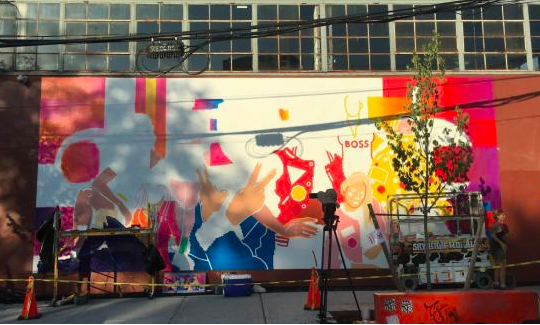 Sheets to Streets: International artists collaborate with Google to create Brooklyn mural -