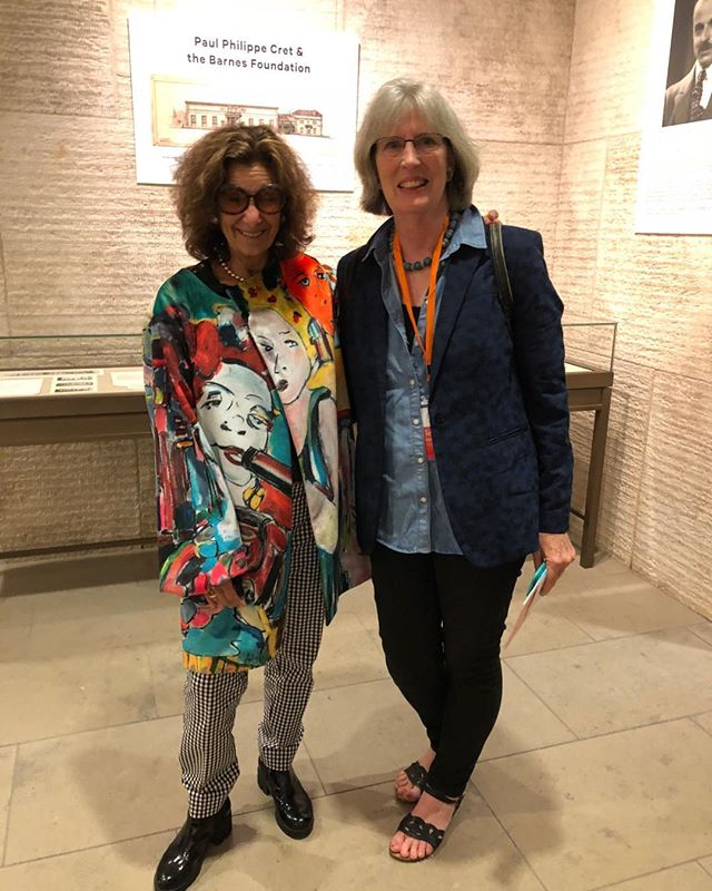 """This past Saturday,I had the honor of featuring my animated film, """"BeatBoxPhilly' created with film maker Warren Bass at the PMA of Dance at the Barnes. Here is a picture from the night with the Director of the Philadelphia Dance Project."""