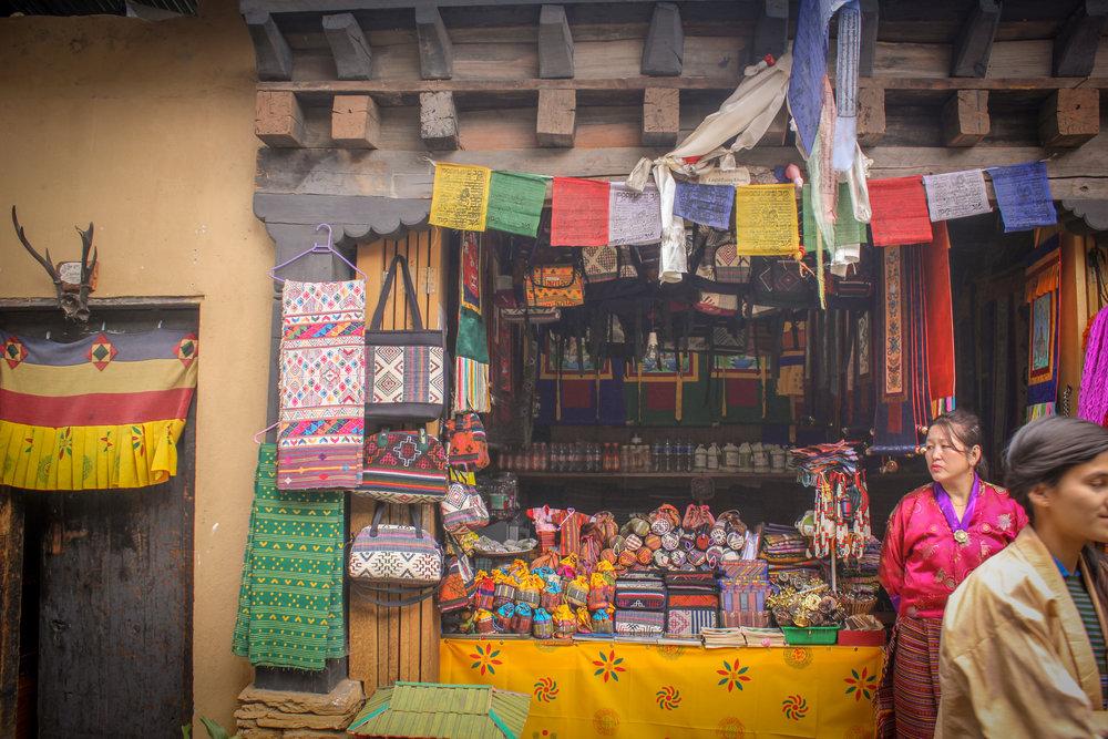 Bhutanese shopfront