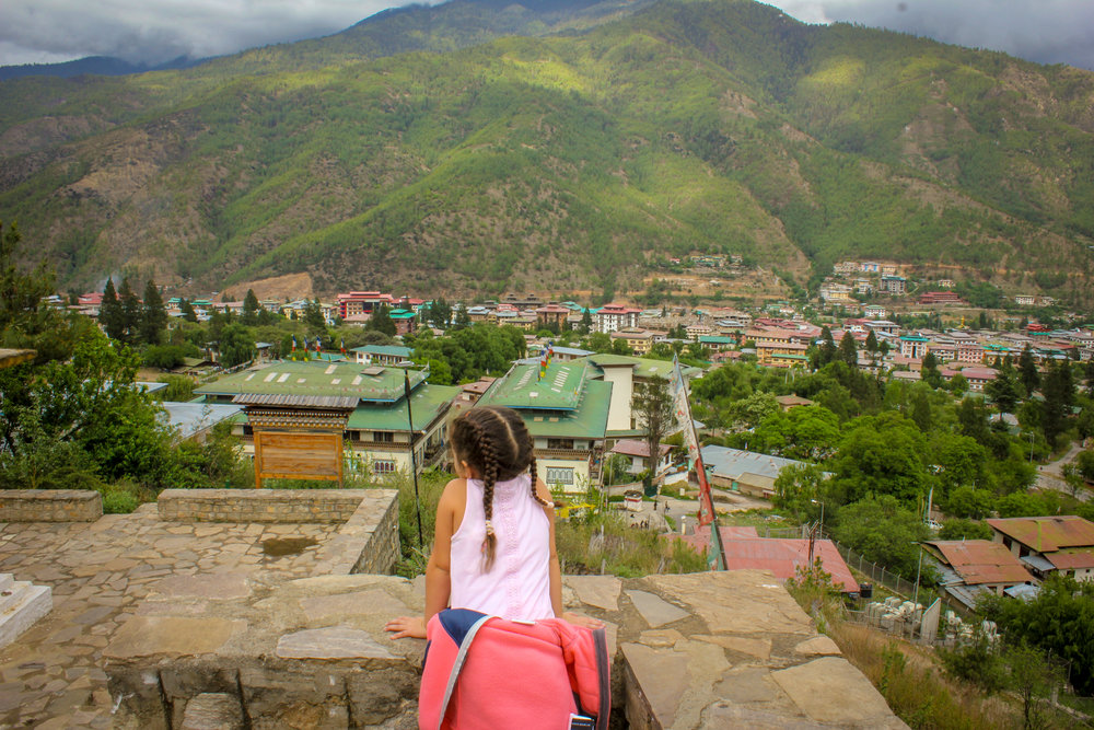 looking over Thimpu