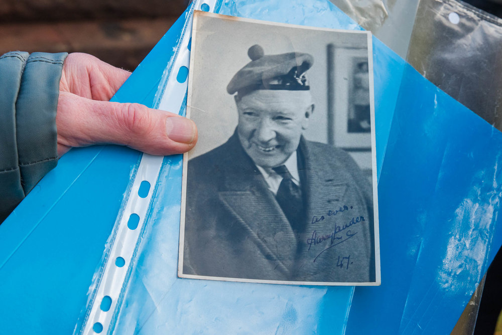 A signed Harry Lauder photograph