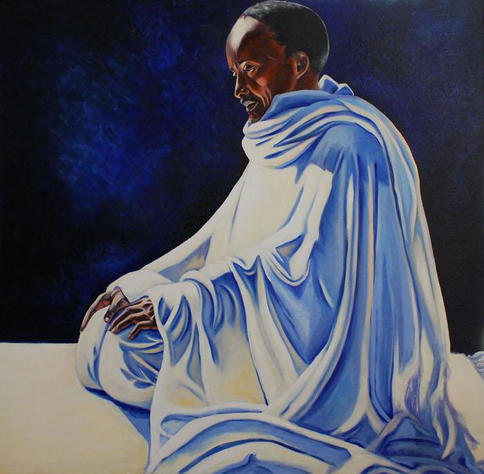 Al Tahyiat, 1992, Oil on canvas, 116 x 110 cm