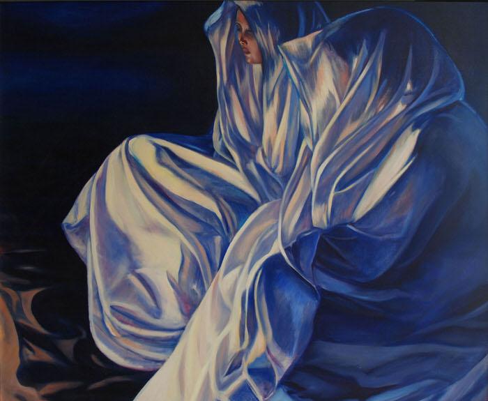 Muzdalifah Before Dawn, 1992, Oil on canvas, 97 x 119 cm