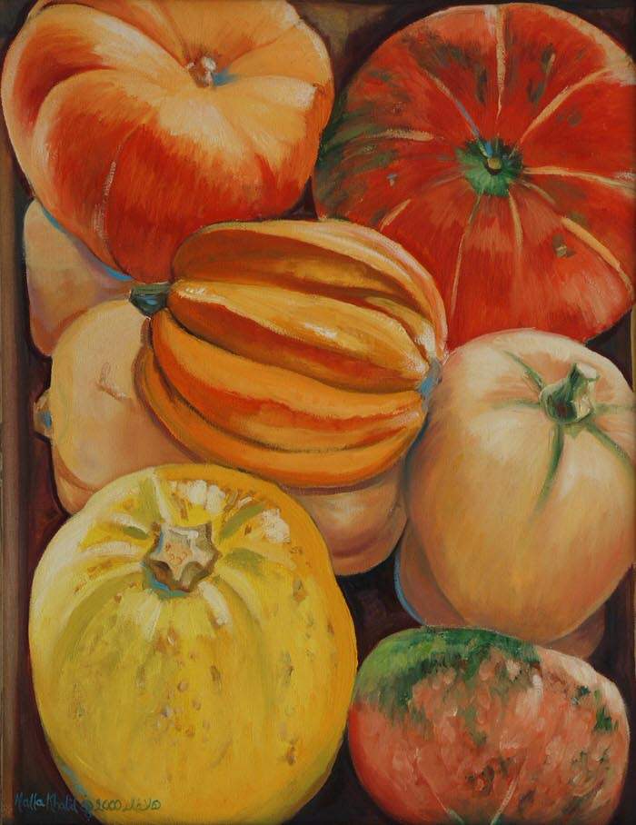 Pumpkins, 2000, Oil on canvas, 32 x 41 cm