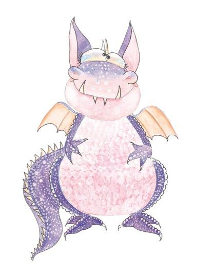 oooh, a dragin, 2011, watercolour, 30,5x20cm.jpg