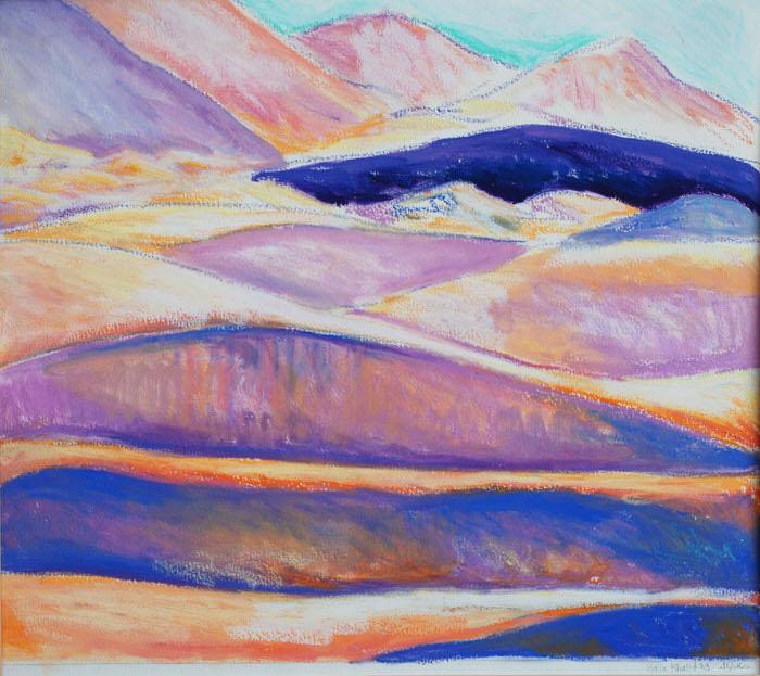 Sands (1), Oil pastel, 1990, 32 x 34.5