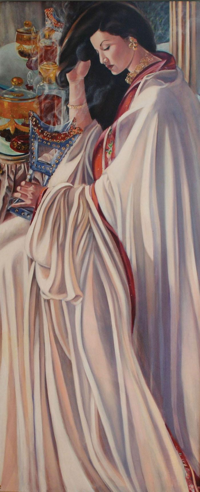 El Aroos, 1994, Oil on canvas, 197 x 90 cm