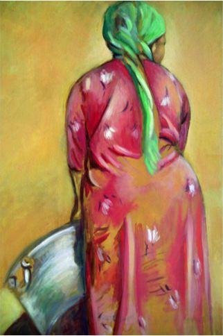 Big Pot, 1989, Oil on canvas, 52 x 35.5 cm
