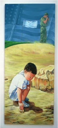 No Comment, 2000, Oil on canvas, 90 x 75 cm