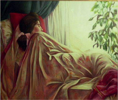 Lazy Afternoon, 1991, Oil on canvas, 120 x 86 cm