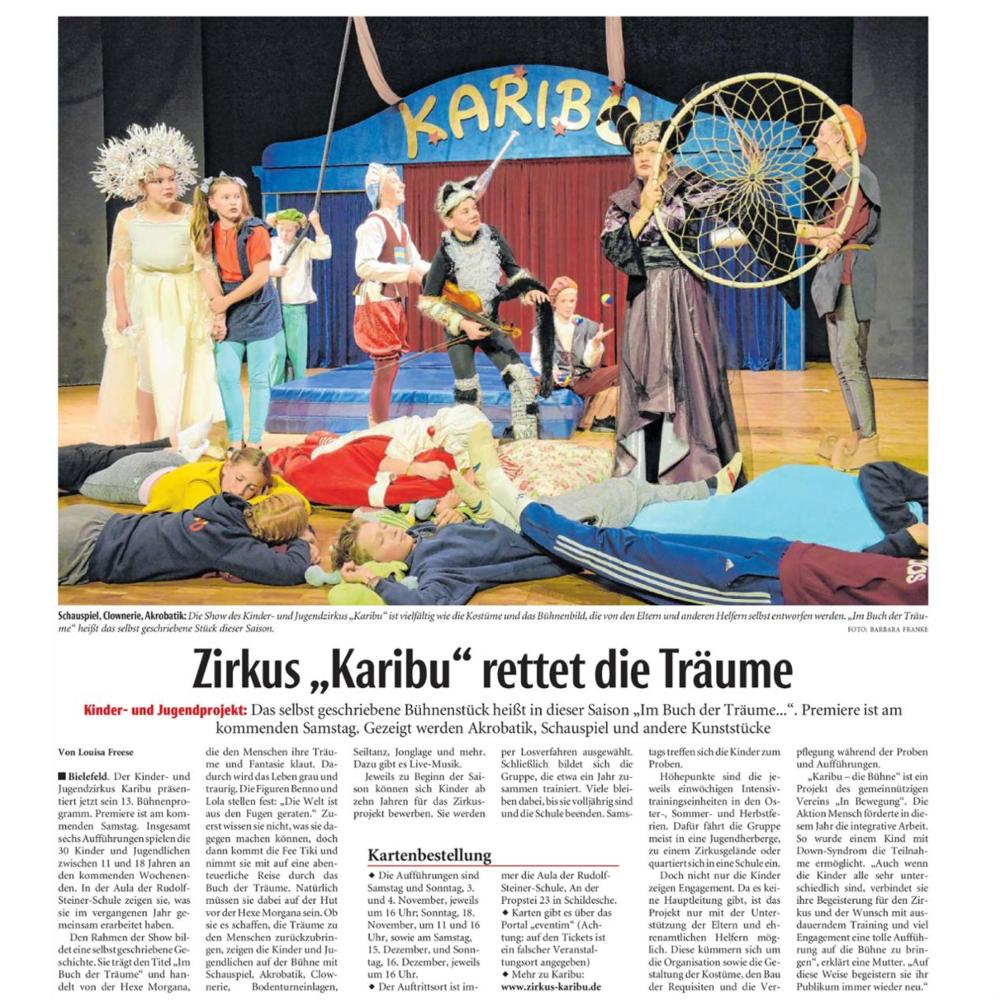 Karibu die Bühne Bielefeld Zirkus Neue Westfälische.png