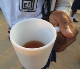Chai - Black tea at 10am.